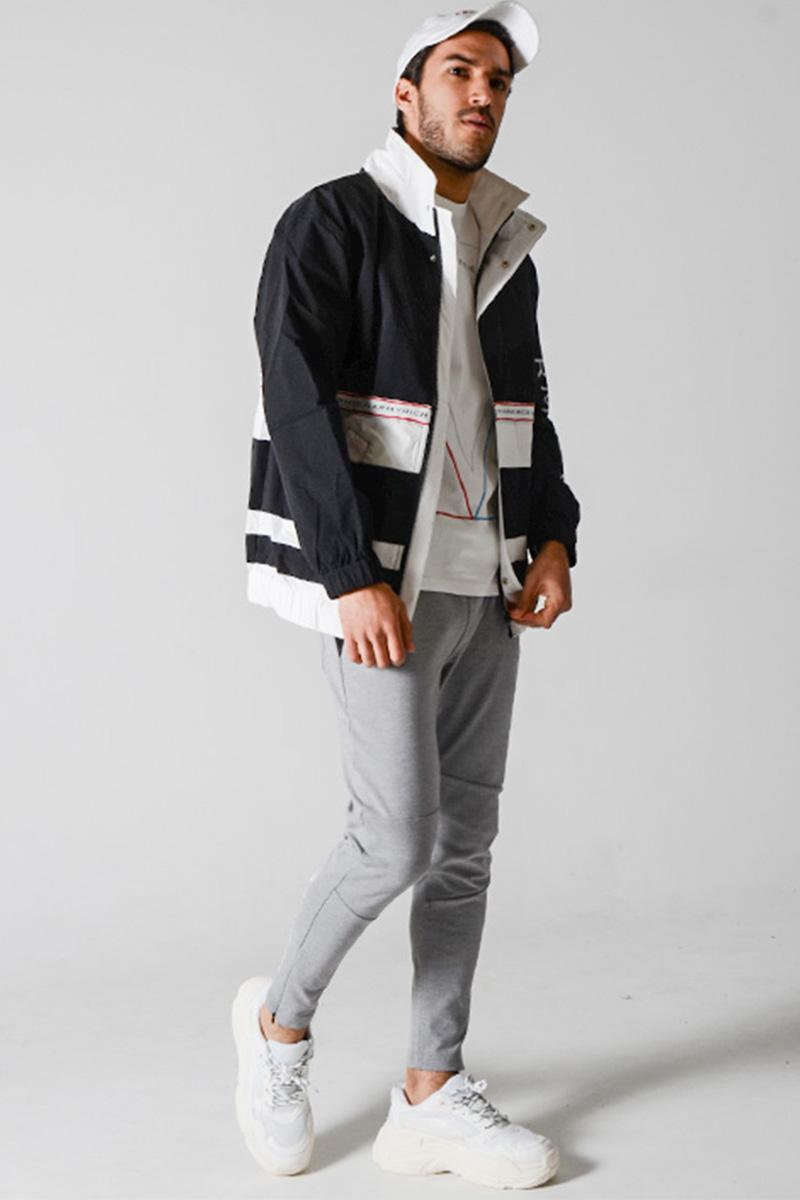 セーリングジャケット×ジャージパンツ