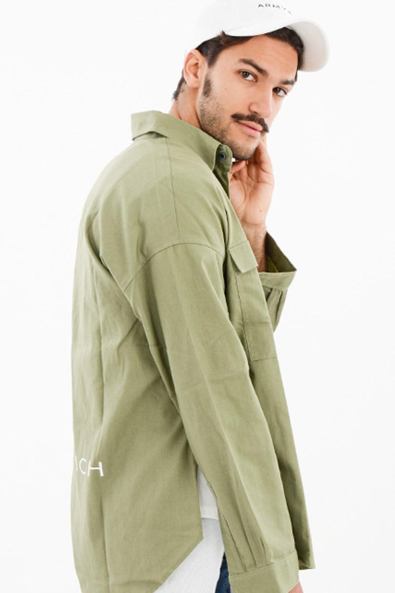 ボタンダウンシャツ KHAKI セットアップ、メンズ、ファッション、通販、30代、40代